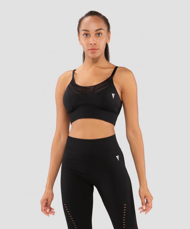 Женский бра-топ Essential Knit black FA-WB-0202-BLK, черный, FIFTY
