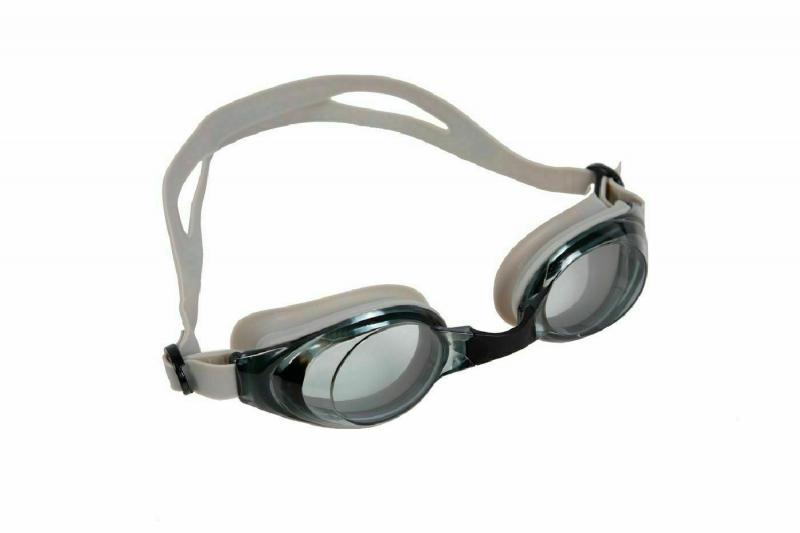 """Очки для плавания, серия """"Регуляр"""", серые, цвет линзы - серый BRADEX SF 0394"""