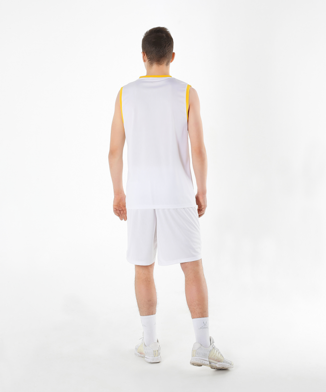 Шорты баскетбольные JBS-1120-014, белый/желтый, детский, Jögel