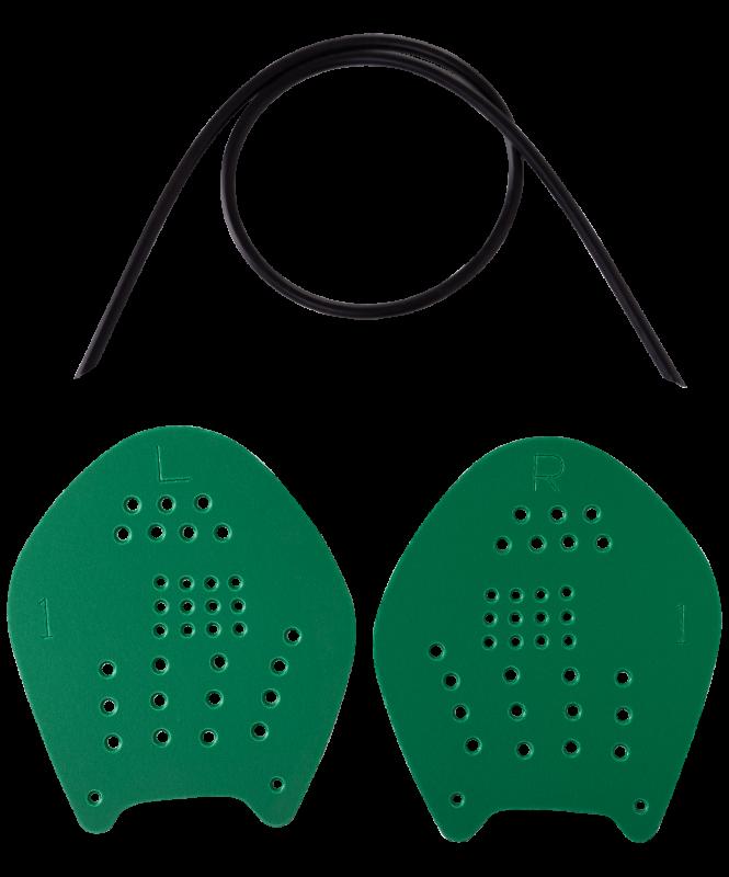 Лопатки для плавания Target, зеленый, M, LongSail