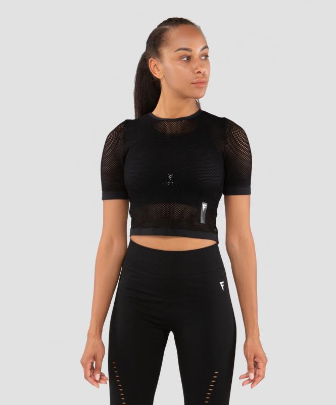 Женская футболка Essential Knit black FA-WT-0201-BLK, черный, FIFTY