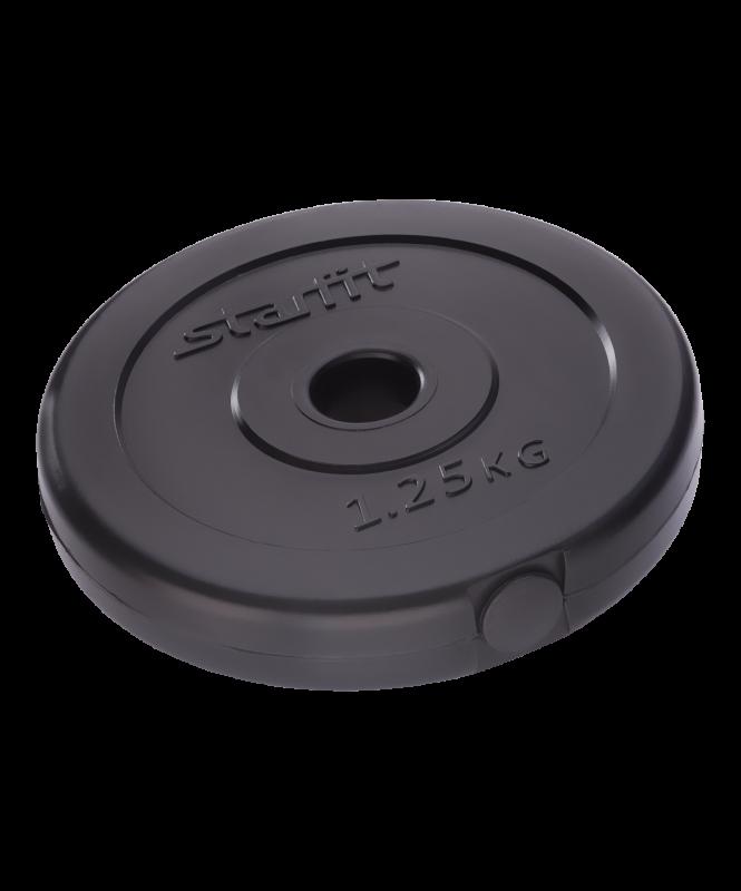 Диск пластиковый BB-203, d=26 мм, черный, 1,25 кг, Starfit