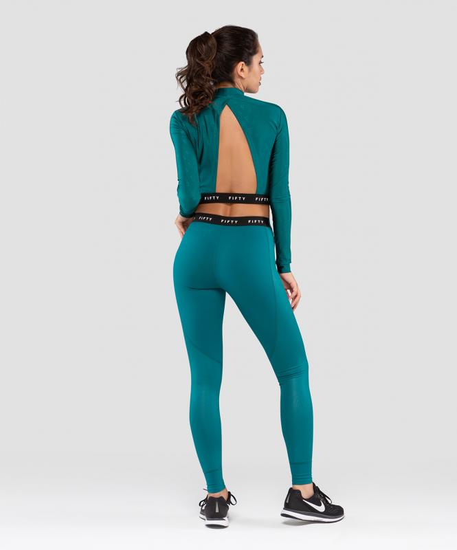 Женская футболка с длинным рукавом Majesty  emerald FA-WL-0201-EML, изумрудный, FIFTY