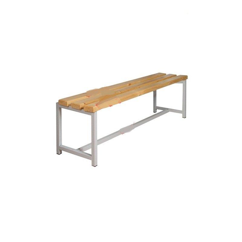 Скамейка (банкетка) для раздевалки без спинки/крючков, длина 2 м