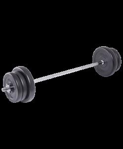 Штанга разборная BB-401, стальной гриф, пластиковые диски, 25 кг, Starfit