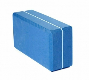 Кирпич для йоги из EVA-пены Yoga brick AKO-yoga синий, 22x11x7 см, 0.3 кг