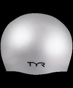Шапочка для плавания Wrinkle Free Silicone Cap, силикон, LCS/040, серебристый, TYR
