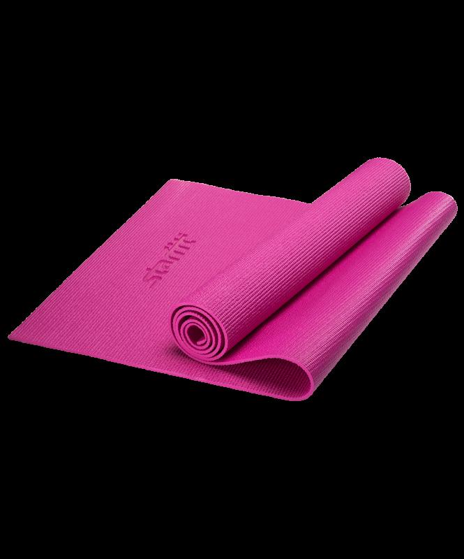 Коврик для йоги FM-101, PVC, 173x61x0,5 см, розовый, Starfit