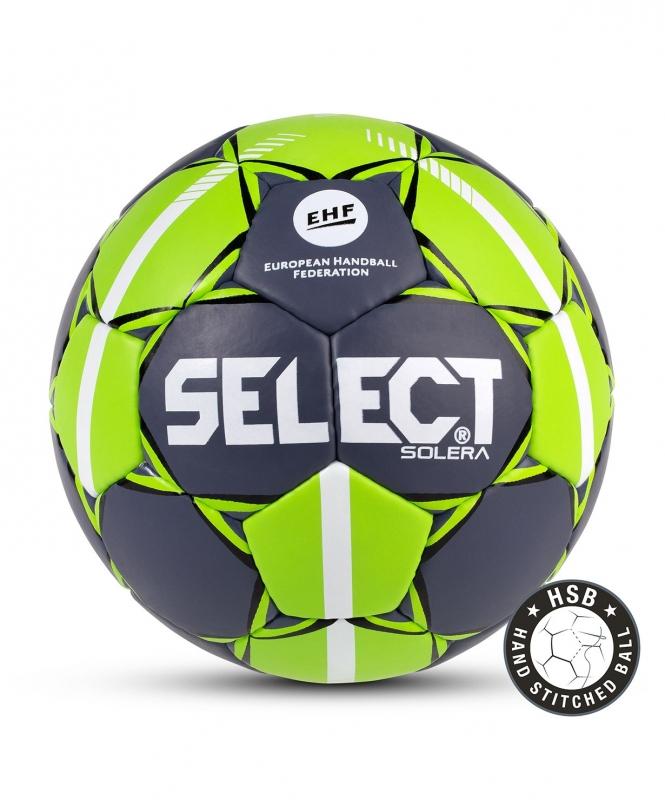 Мяч гандбольный SOLERA IHF №2, сер/лайм, Select