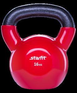 Гиря виниловая DB-401, красная, 16 кг, Starfit