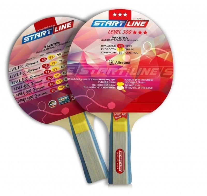 Ракетка для настольного тенниса START LINE Level 300 (прямая)