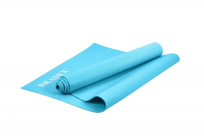 Коврик для йоги и фитнеса Bradex SF 0693, 173*61*0,3 см, бирюзовый с переноской