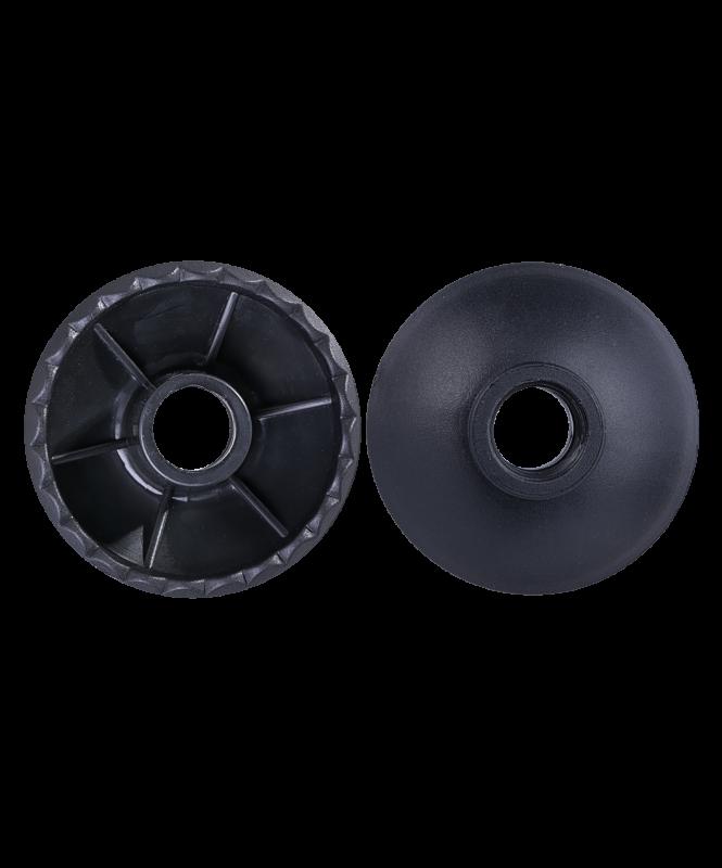 Комплект колец ограничительных для скандинавских палок, 2 шт., чёрный, Berger