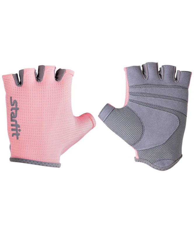 Перчатки для фитнеса SU-127, розовый/серый, Starfit