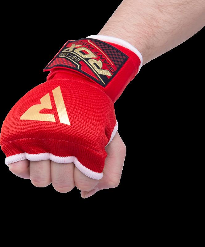 Внутренние гелевые перчатки с ремнями на запястьях, красные, RDX