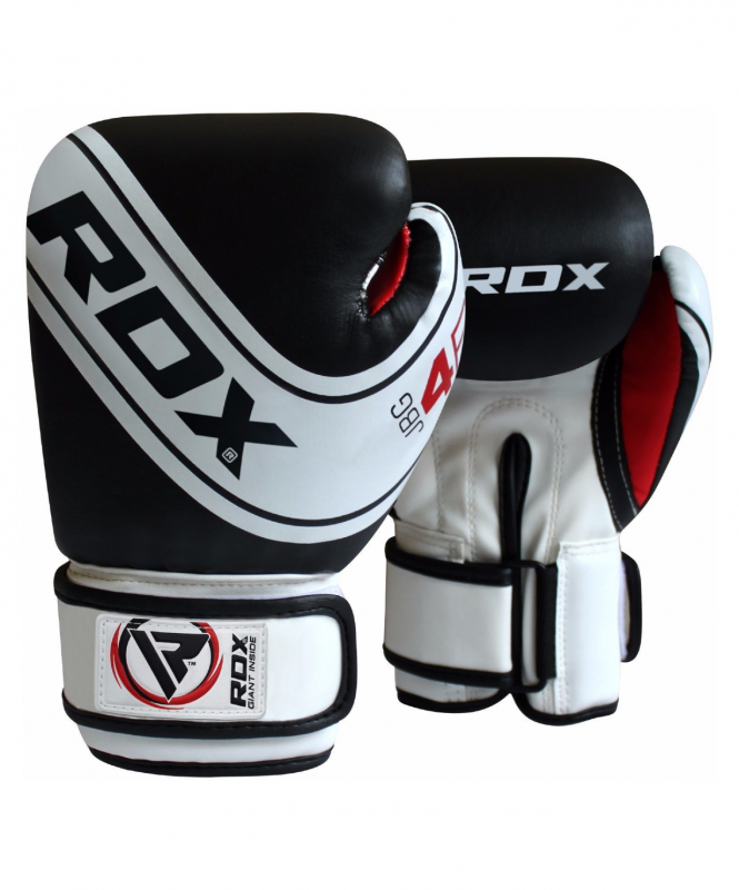 Перчатки боксерские KIDS WHITE/BLACK JBG-4B-6oz, 6 oz, RDX