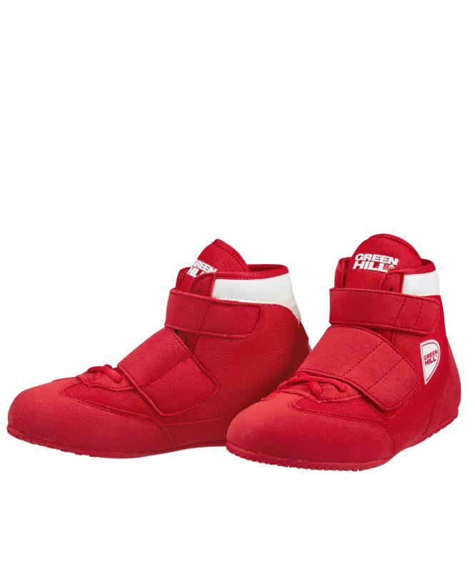 Обувь для борьбы SPARK WSS-3255, красный, Green Hill