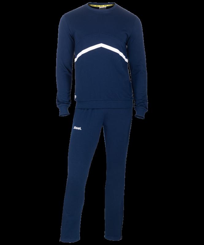 Тренировочный костюм детский JCS-4201-091, хлопок, темно-синий/белый, Jögel