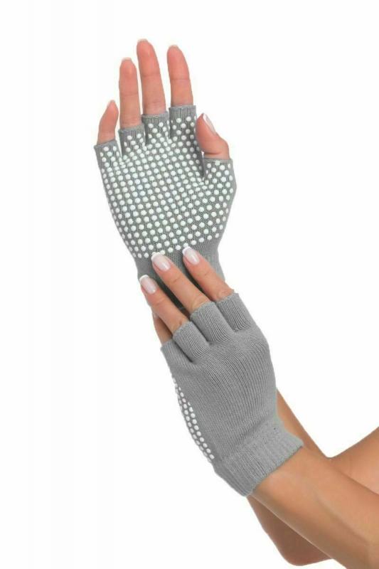 Перчатки противоскользящие для занятий йогой, серые BRADEX SF 0207