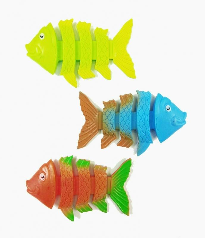 Тонущие игрушки гибкие рыбки 3 шт.