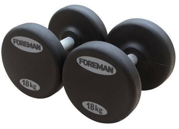 Гантели фиксированные в уретане Foreman (пара) FM/AUD