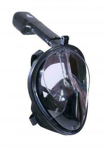Маска панорамная Sailboat черная FM01 PVC L/XL