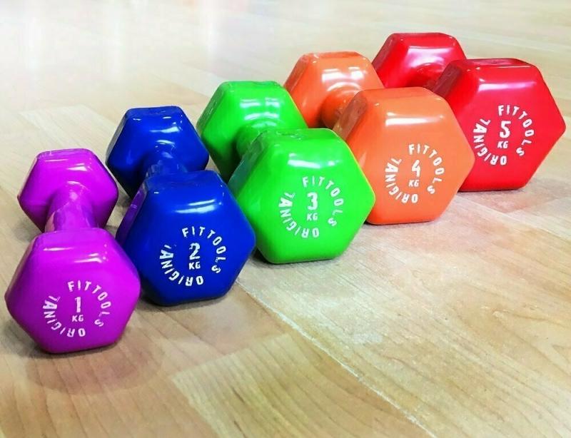 Гантель в виниловой оболочке 1 кг (Цвет - ярко пурпурный) Original FitTools FT-VWB-1