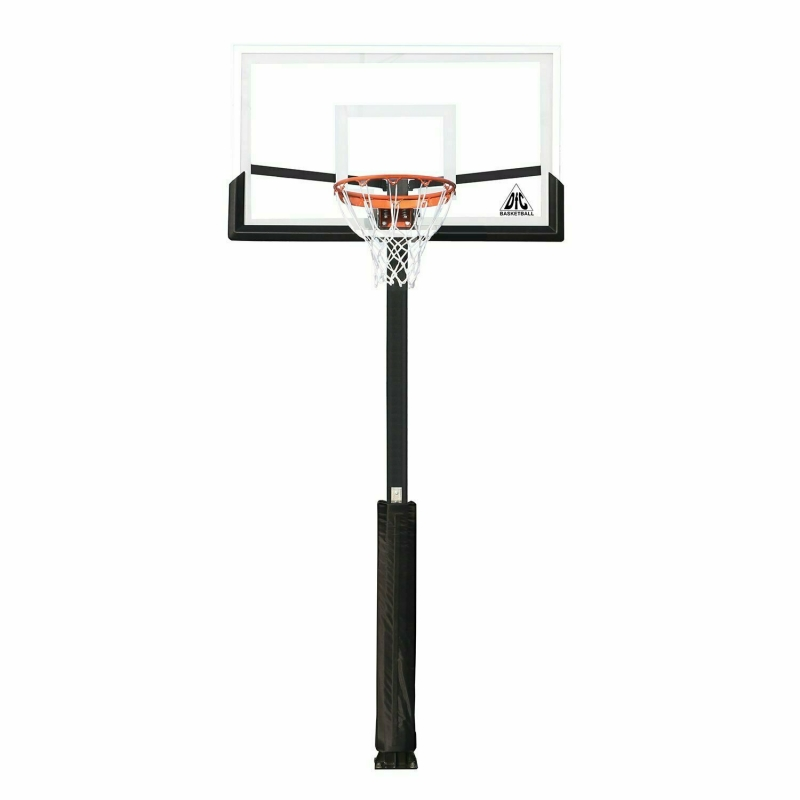 Баскетбольная стационарная стойка DFC ING54U 136х80см (четыре короба)