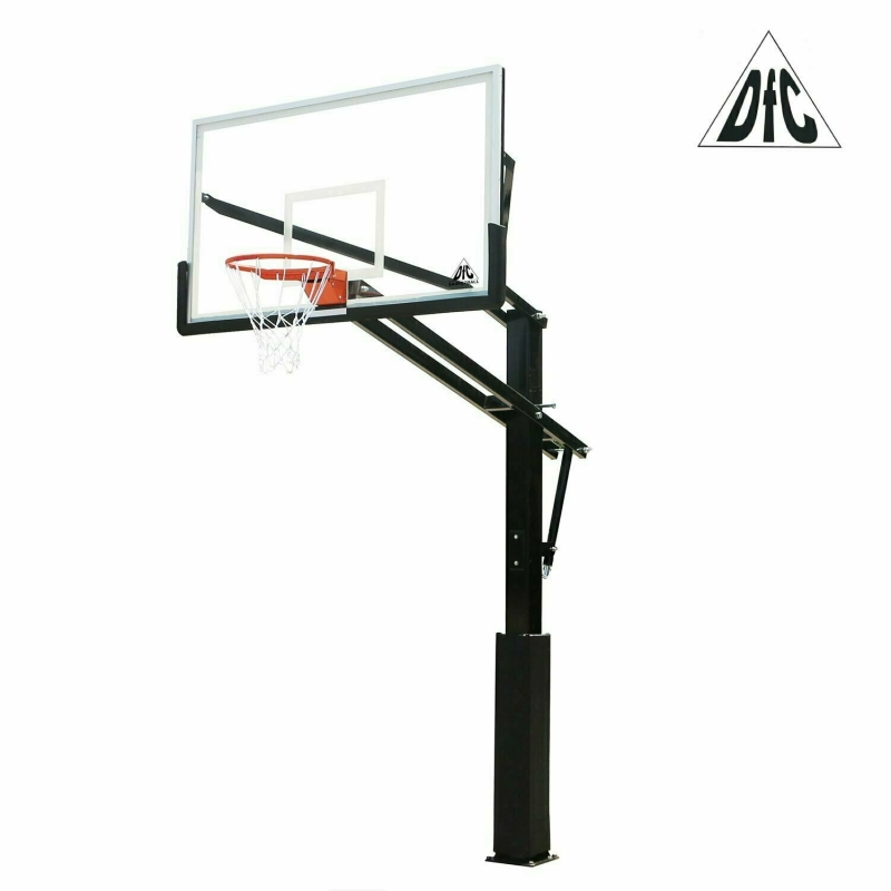 Баскетбольная стационарная стойка DFC ING72GU 180x105см стекло 10мм (Пять коробов).