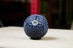 Мячик массажный рифленый Yousteel, темно-синий