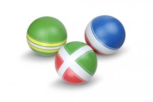 """Мяч резиновый детский д. 100мм., серия """"Классика"""" ручное окраш."""