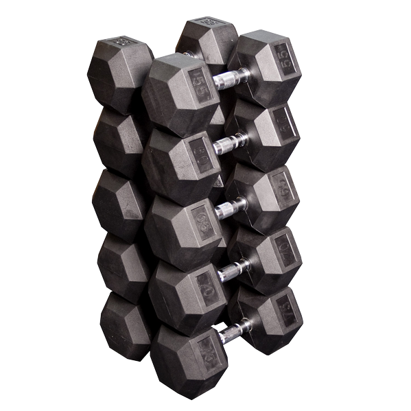 Набор гексагональных гантелей: 5 пар от 24,75 кг до 33,75 кг (шаг 2,25 кг) Body-Solid SDRS650
