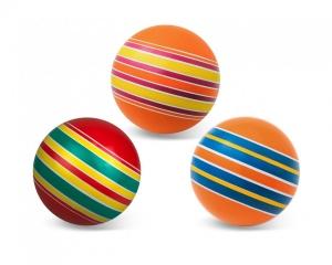 """Мяч резиновый диаметр 100мм серия """"Полосатики"""""""