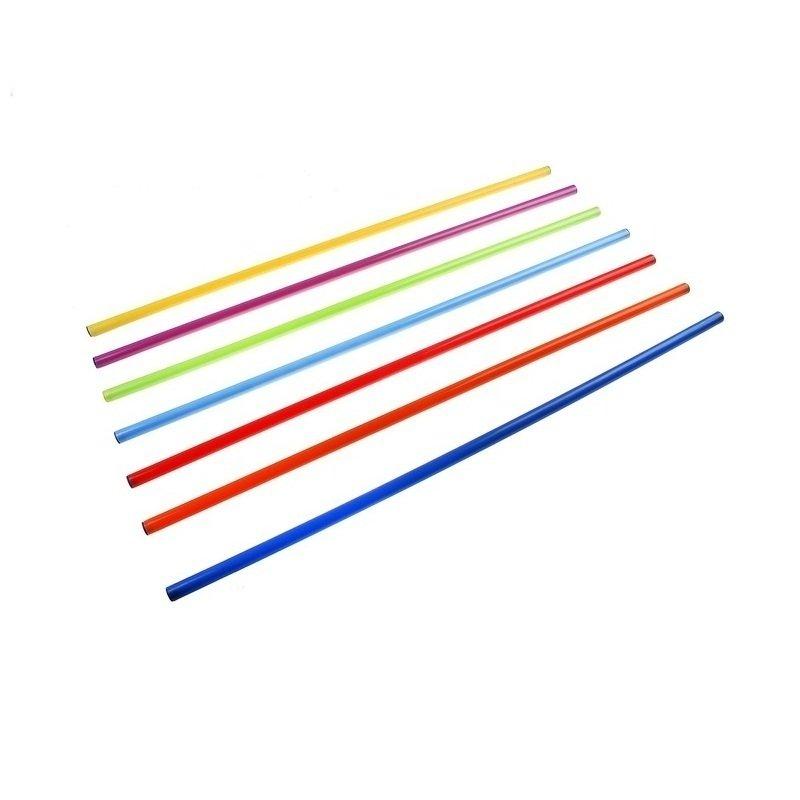 Палка гимнастическая пластиковая 80 см. цвет в ассортименте
