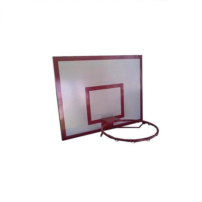 Щит баскетбольный ПВХ пластик Palight 10 мм, тренировочный с основанием, 1,20*0,90 м