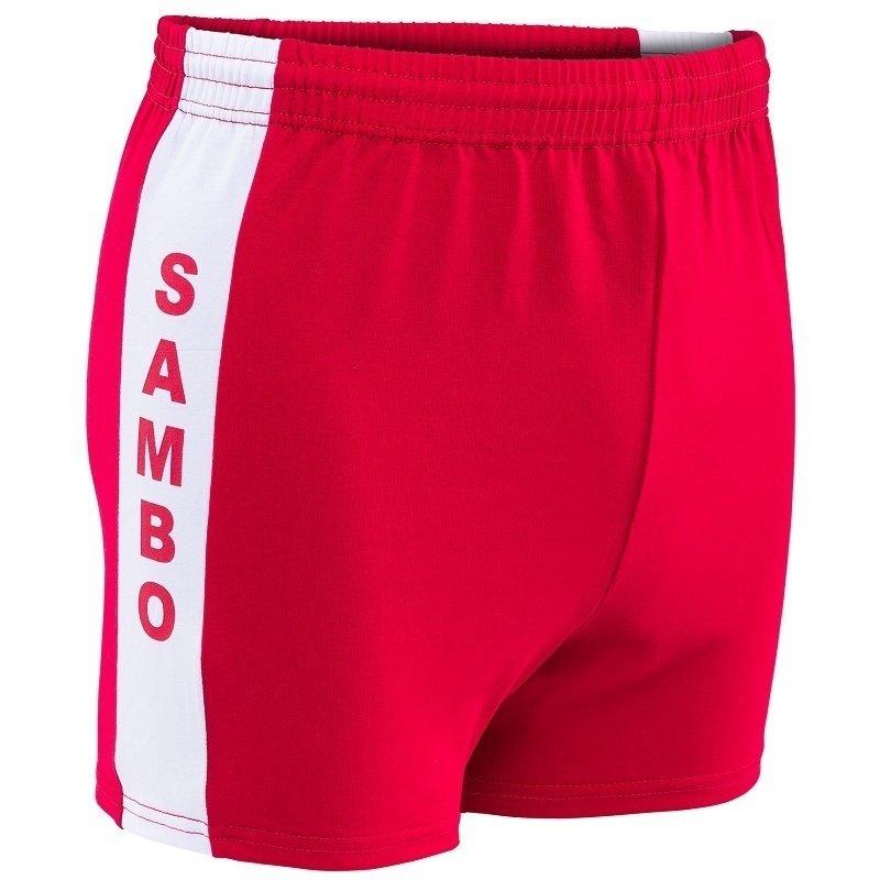 Шорты для самбо красные с 34 по 52 размер