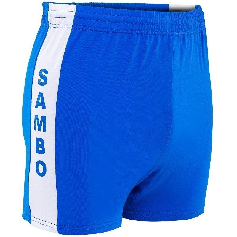 Шорты для самбо синие с 34 по 52 размер