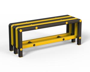 Скамья (вариант 9), черно-желтая