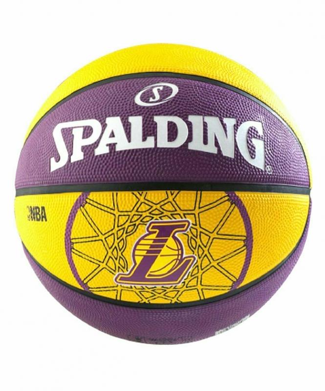 Мяч б/б NBA TEAM LAKERS, размер 7, резина