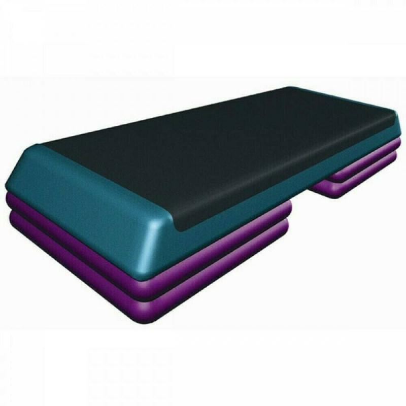Степ-платформа Fitnes Sport 3 уровня высоты цветная