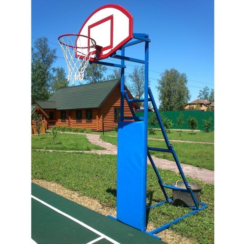 Стойка баскетбольная/стритбольная складная с щитом, кольцом и сеткой