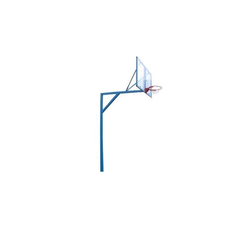 Стойка баскетбольная стационарная Г - образная, уличная, вынос 1,0 м