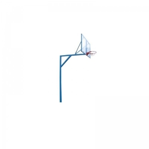 Стойка баскетбольная стационарная Г - образная, уличная, вынос 1,6 м