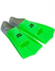 Короткие тренировочные ласты FINS TRAINING Mad Wave зеленый
