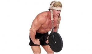 Тренажер для шеи и осанки кожаный
