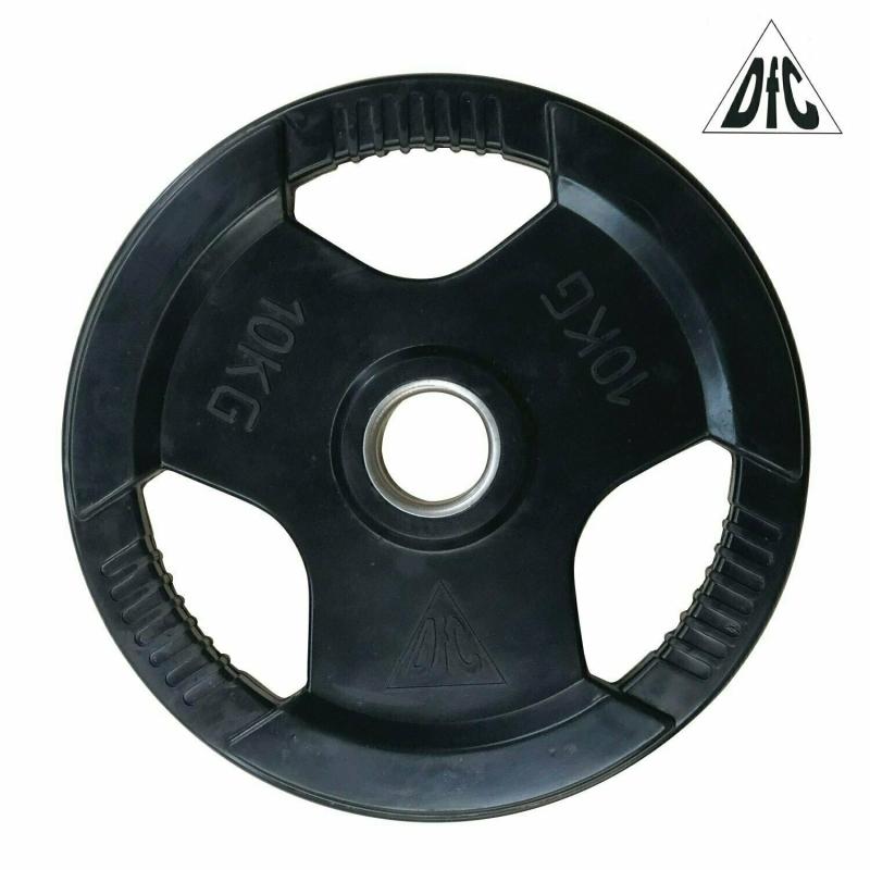 Диск обрезиненный DFC, чёрный, с хватом, 51мм, 10кг