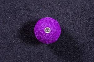Мячик массажный рифленый Yousteel, фиолетовый