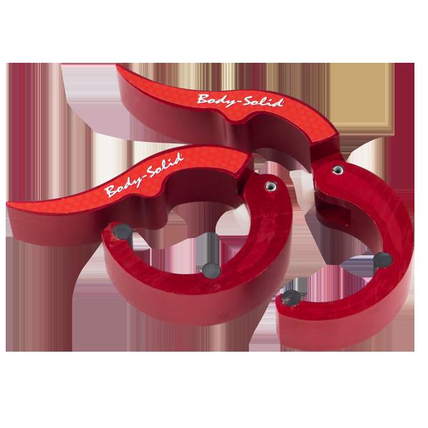 Замки алюминиевые ROEPKE красные (пара) Body-Solid BSTROC-RED